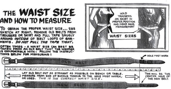 How to size a belt